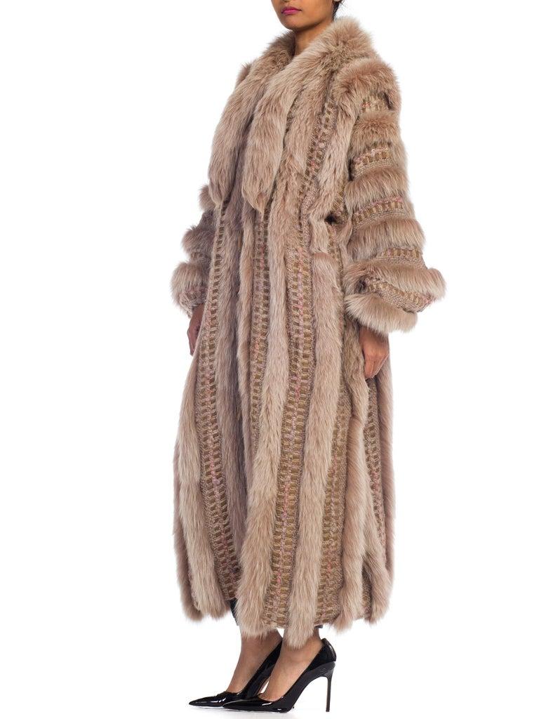 Wild Oversized Fox Fur & Knit Coat For Sale 5