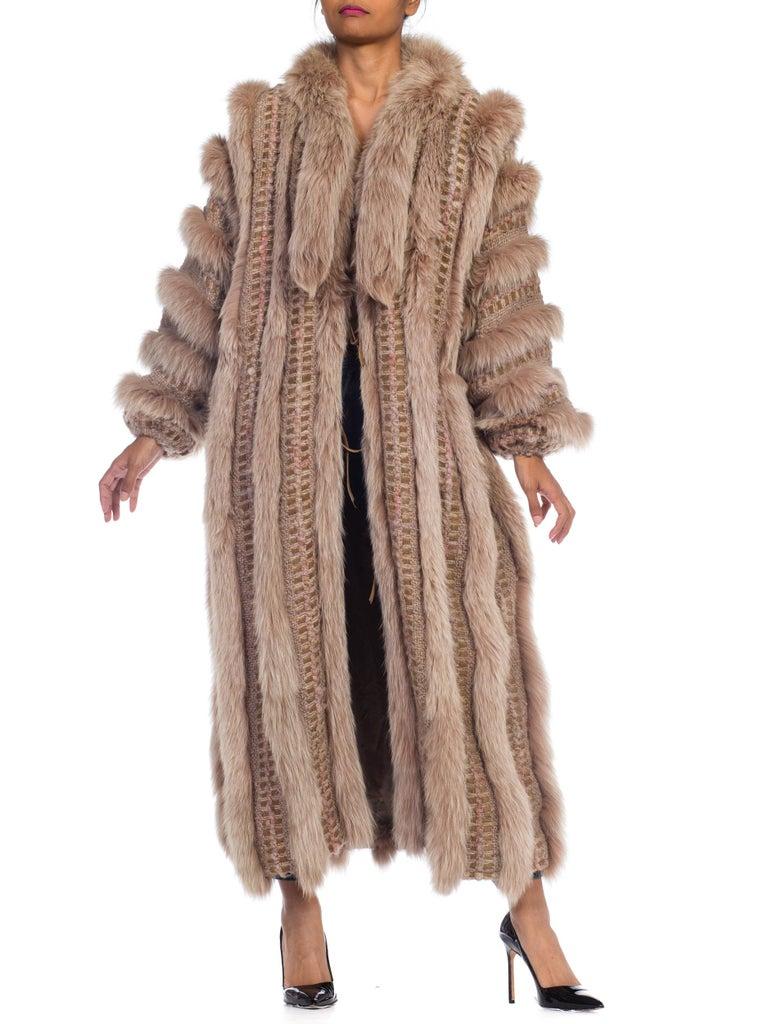 Wild Oversized Fox Fur & Knit Coat For Sale 6