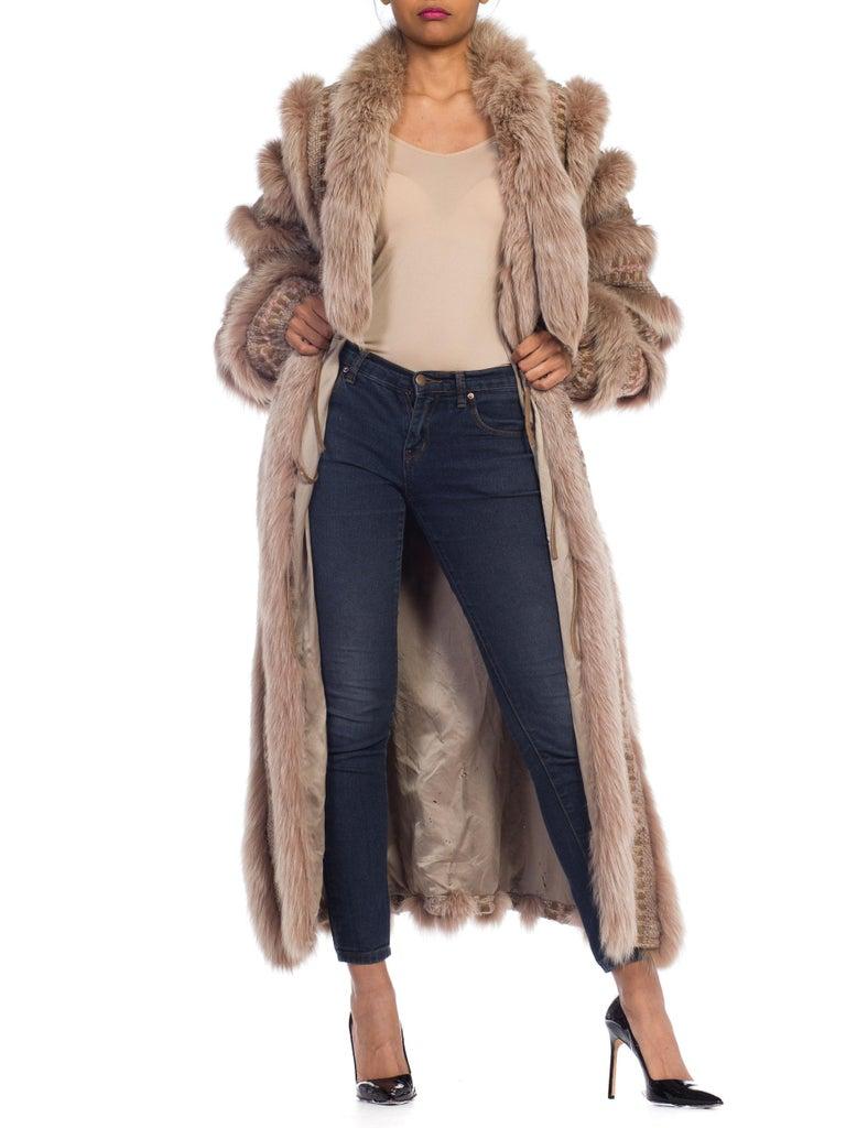 Wild Oversized Fox Fur & Knit Coat For Sale 7