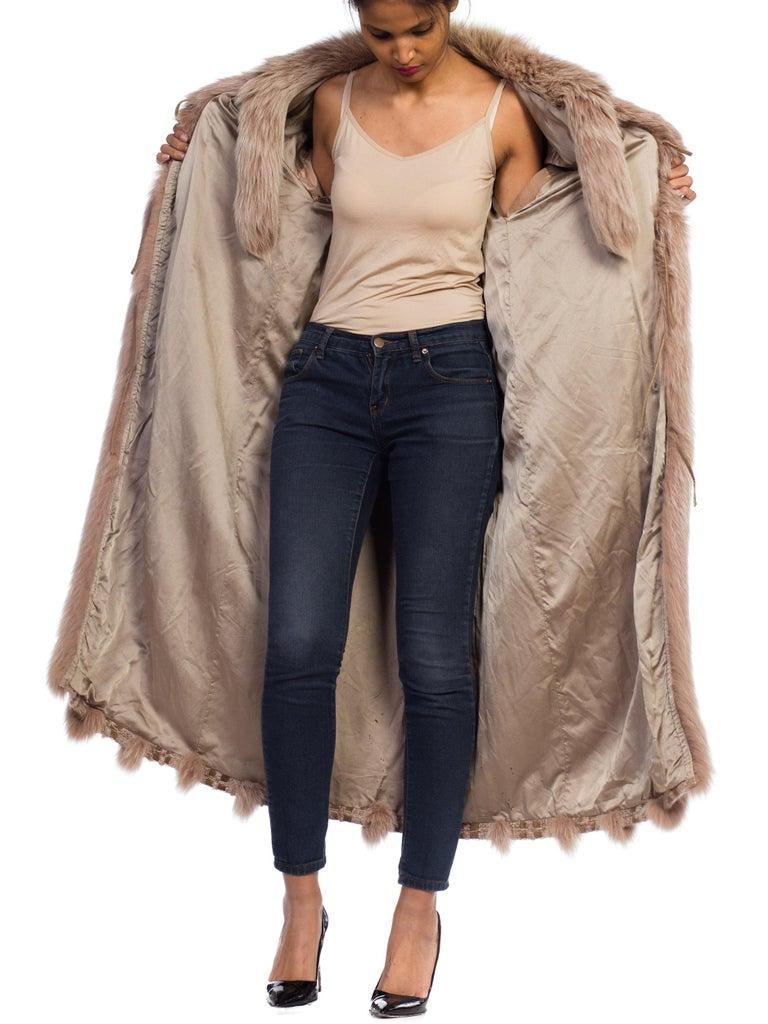 Wild Oversized Fox Fur & Knit Coat For Sale 8