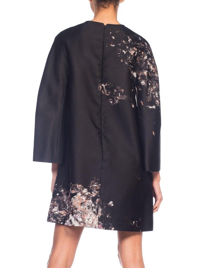Women's Giambattista Valli Paint Splatter Silk Jacquard Artist's Smock Tunic Dress For Sale