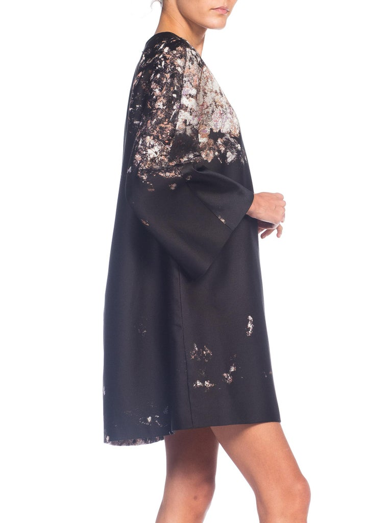 Giambattista Valli Paint Splatter Silk Jacquard Artist's Smock Tunic Dress For Sale 1