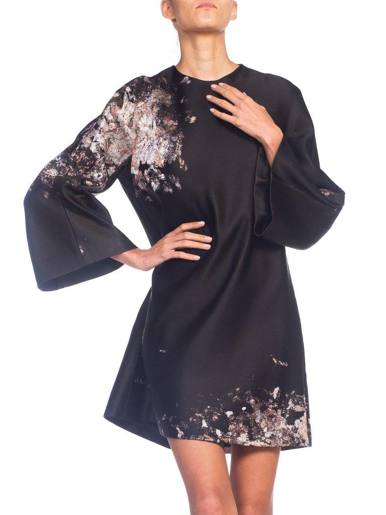 Giambattista Valli Paint Splatter Silk Jacquard Artist's Smock Tunic Dress For Sale 2