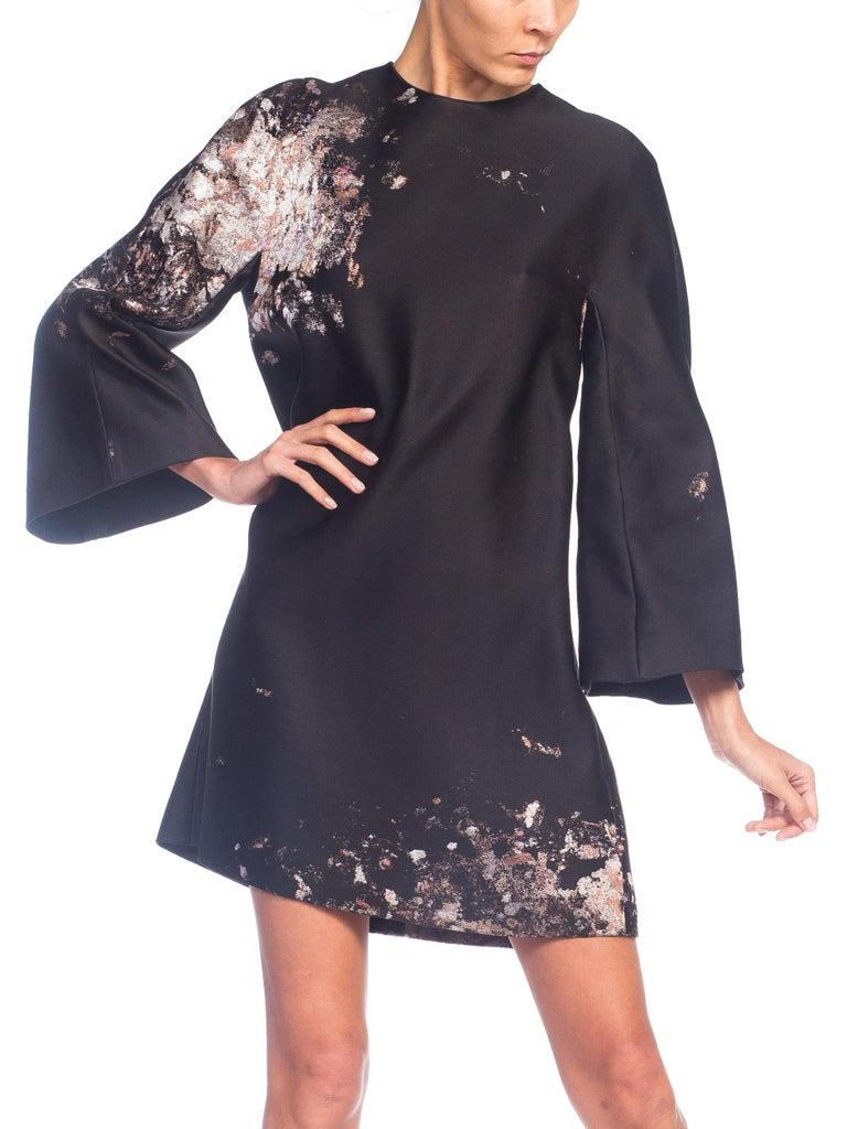 Giambattista Valli Paint Splatter Silk Jacquard Artist's Smock Tunic Dress For Sale 3