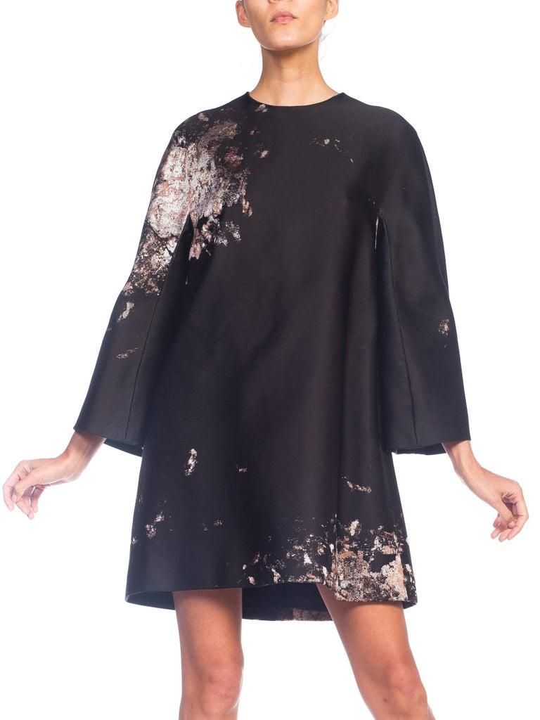 Giambattista Valli Paint Splatter Silk Jacquard Artist's Smock Tunic Dress For Sale 4