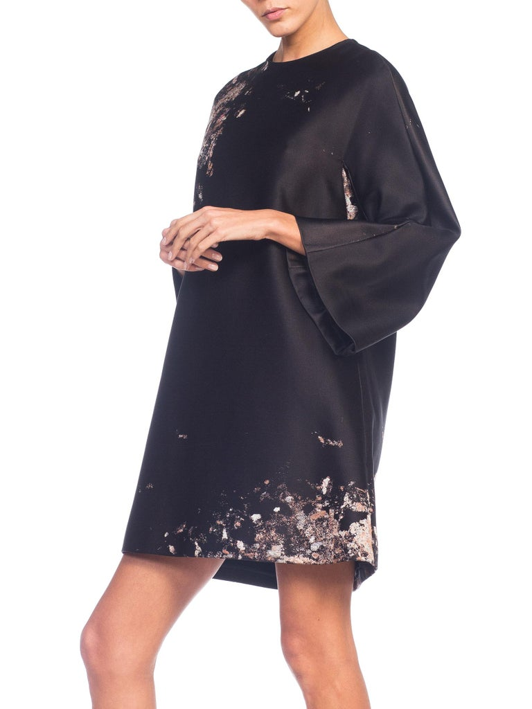 Giambattista Valli Paint Splatter Silk Jacquard Artist's Smock Tunic Dress For Sale 6