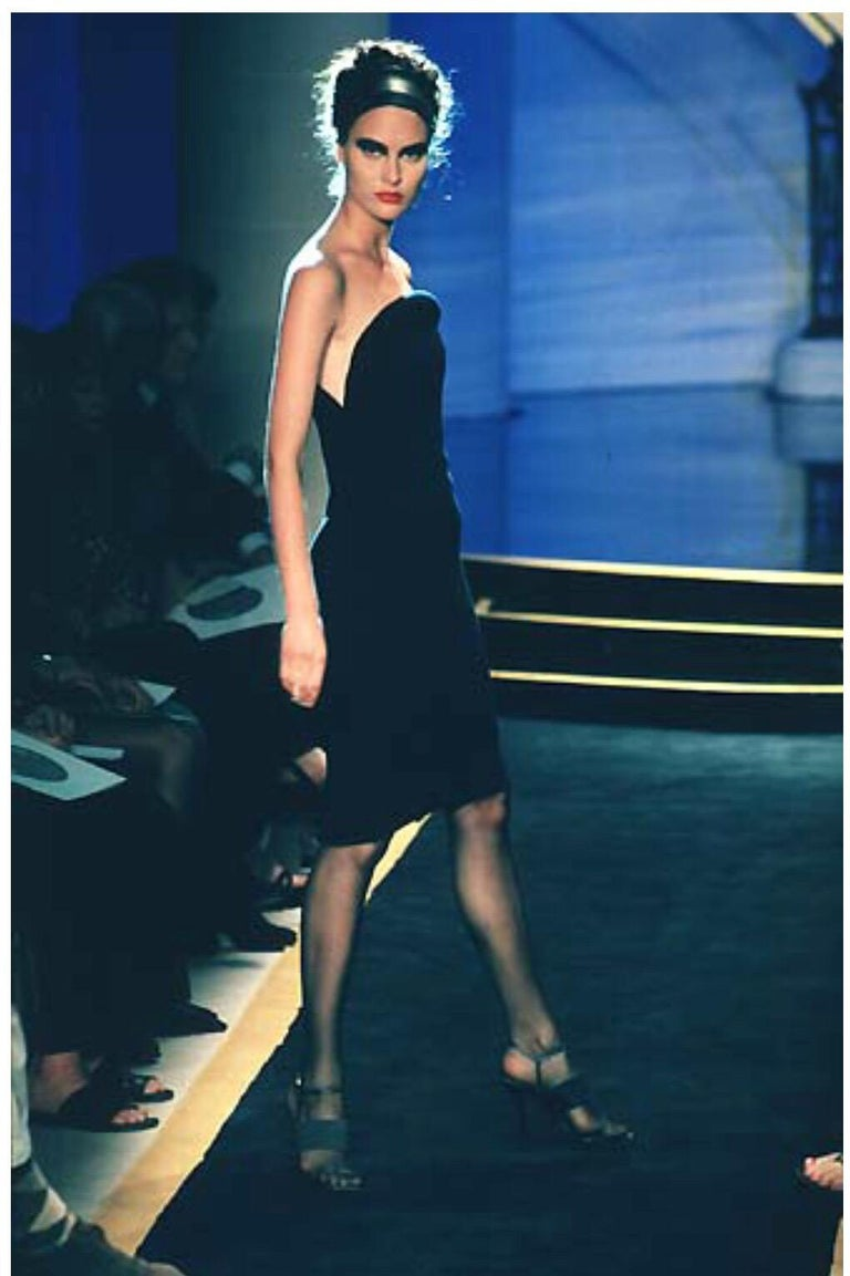 Atelier Versace Leather, Net and Crystal Gown, 1997  For Sale 8