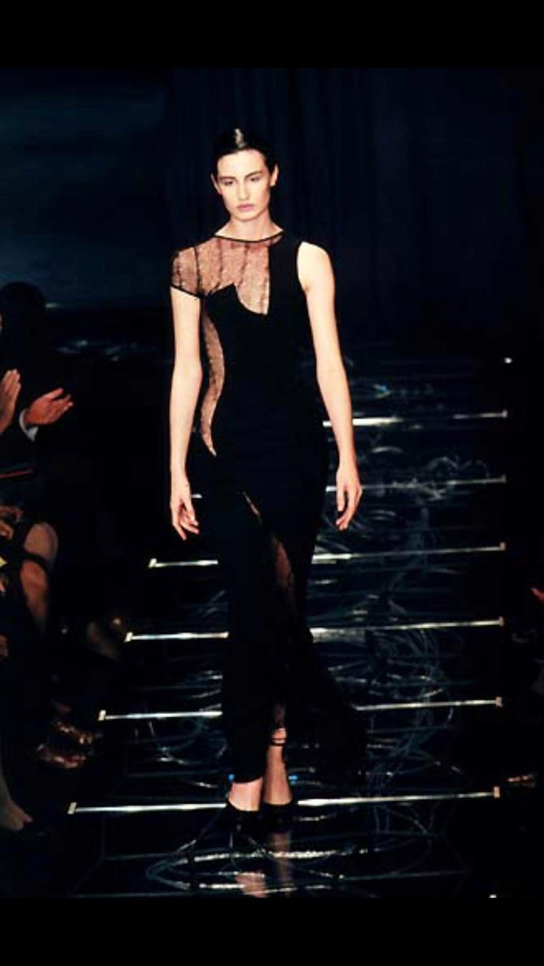 Gianni Versace couture 1990s Lace Asymmetrical cocktail