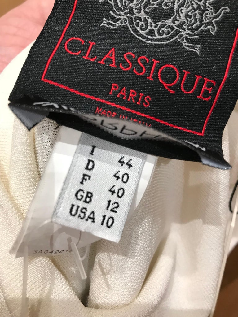 1990s Jean Paul Gaultier Nautical Striped Backless Jersey Dress For Sale 9