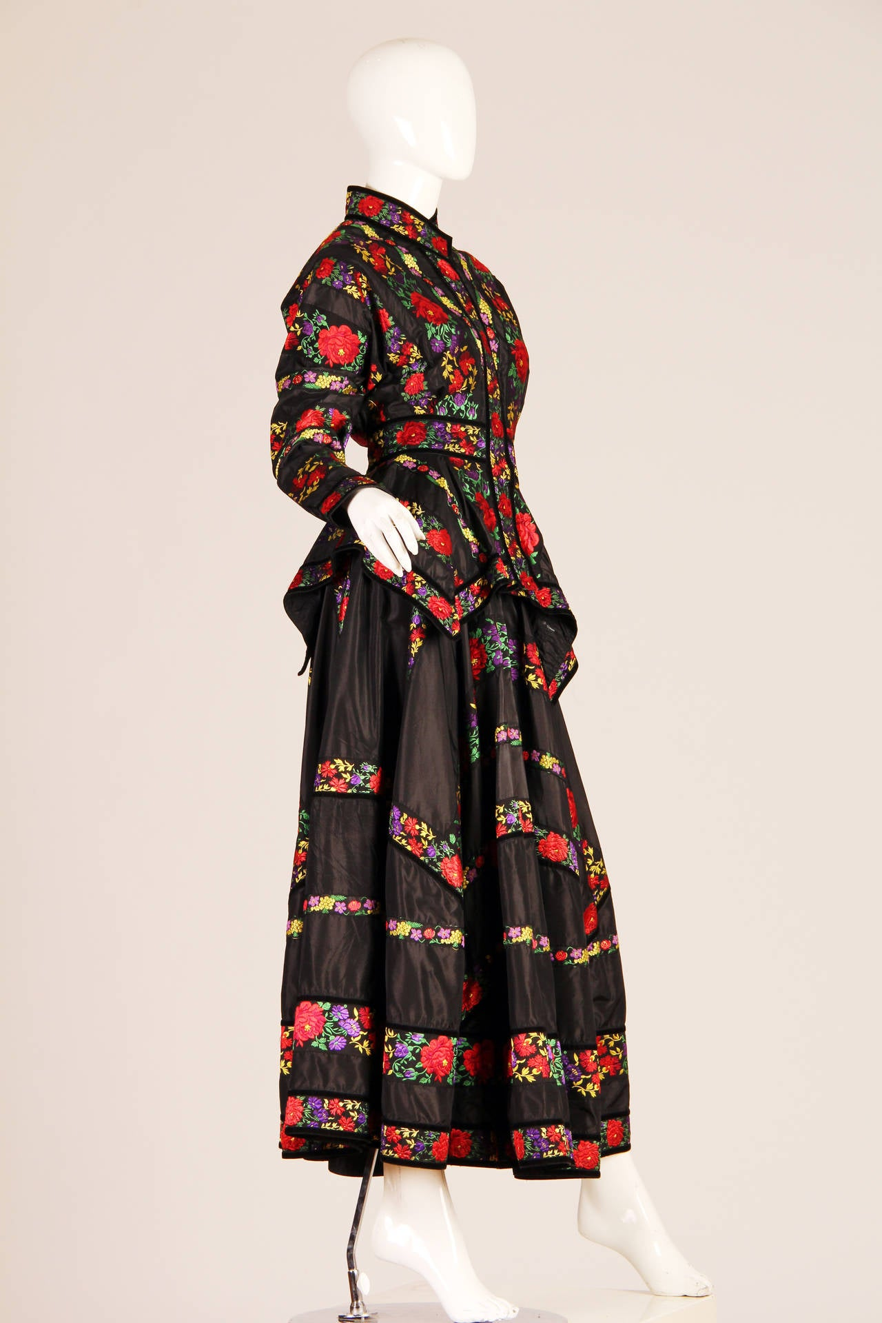 Folkloric Embroidery Boho Inspired Silk Ensemble From Kenzo Gucci style  2