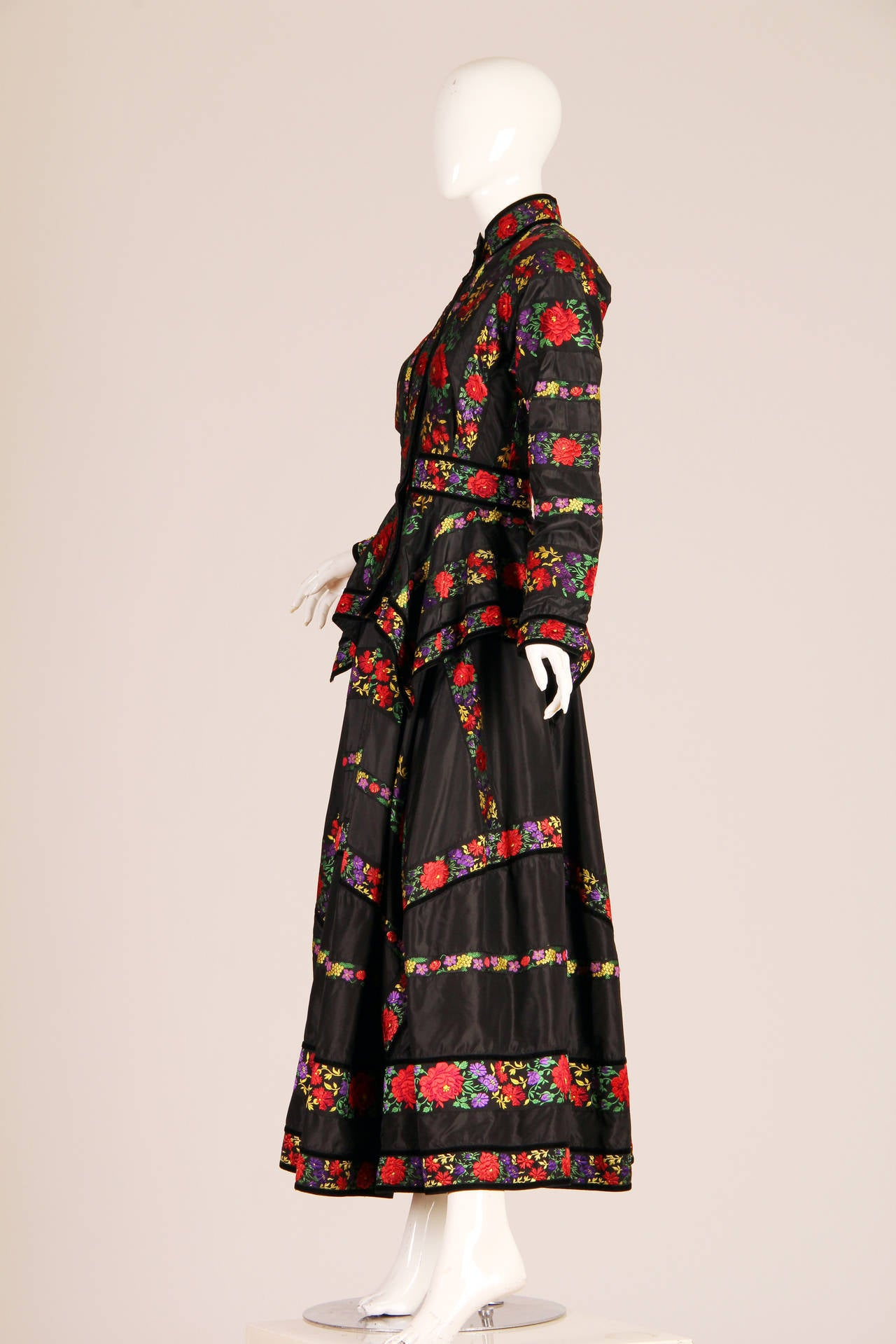 Folkloric Embroidery Boho Inspired Silk Ensemble From Kenzo Gucci style  4