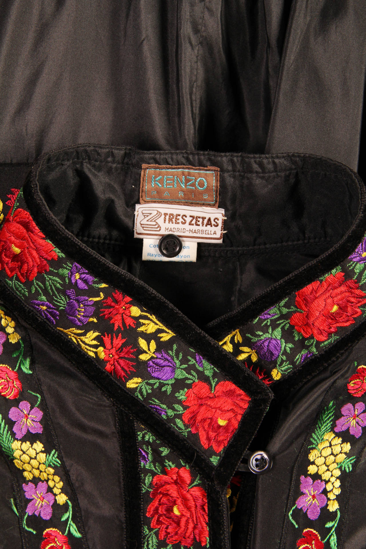 Folkloric Embroidery Boho Inspired Silk Ensemble From Kenzo Gucci style  8