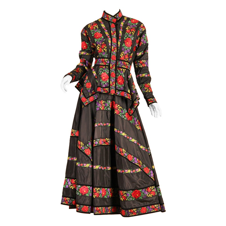 Folkloric Embroidery Boho Inspired Silk Ensemble From Kenzo Gucci Style For