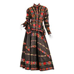 Folkloric Embroidery Boho Inspired Silk Ensemble From Kenzo Gucci style