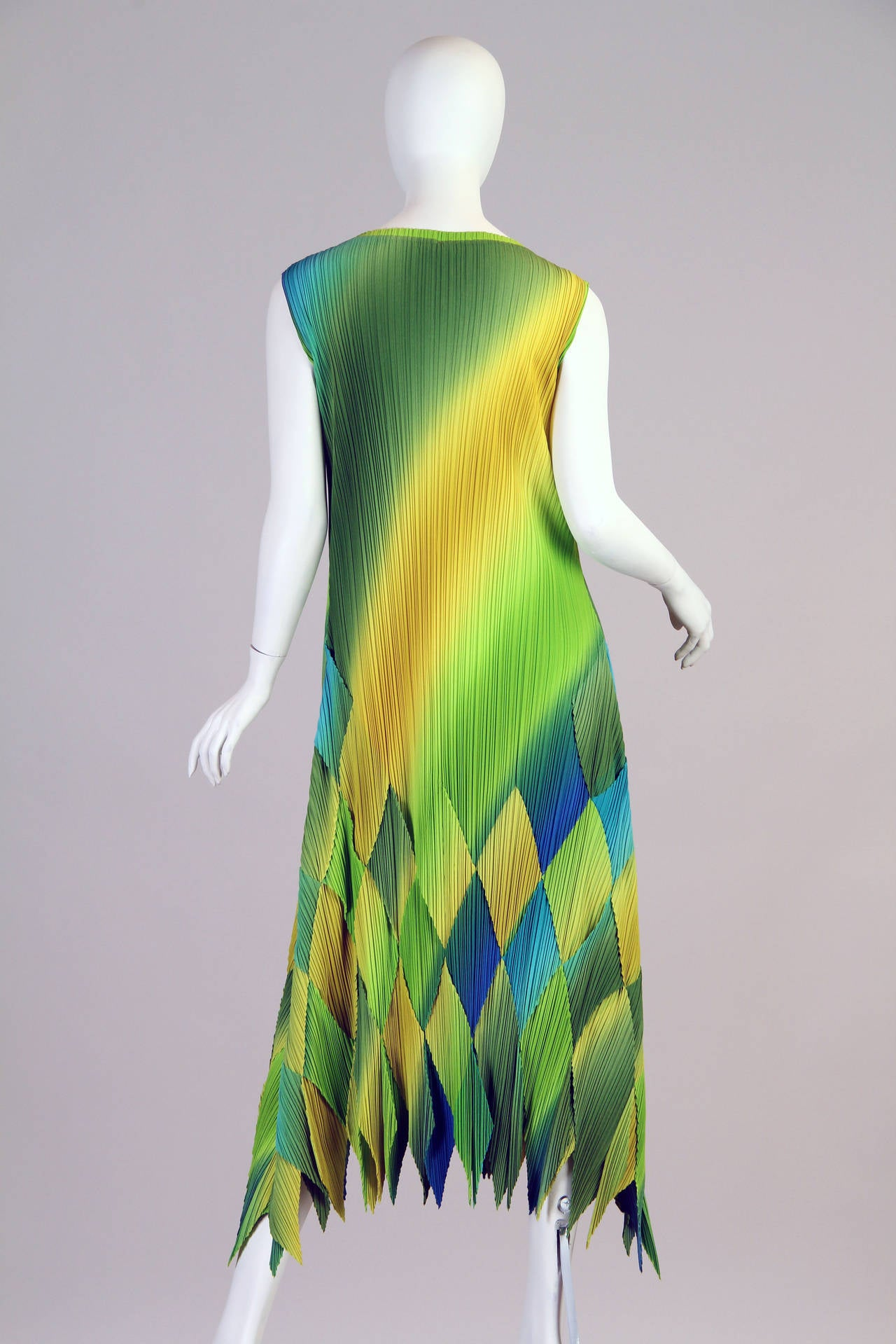 1990s Issey Miyake Multi-Color Dress 4