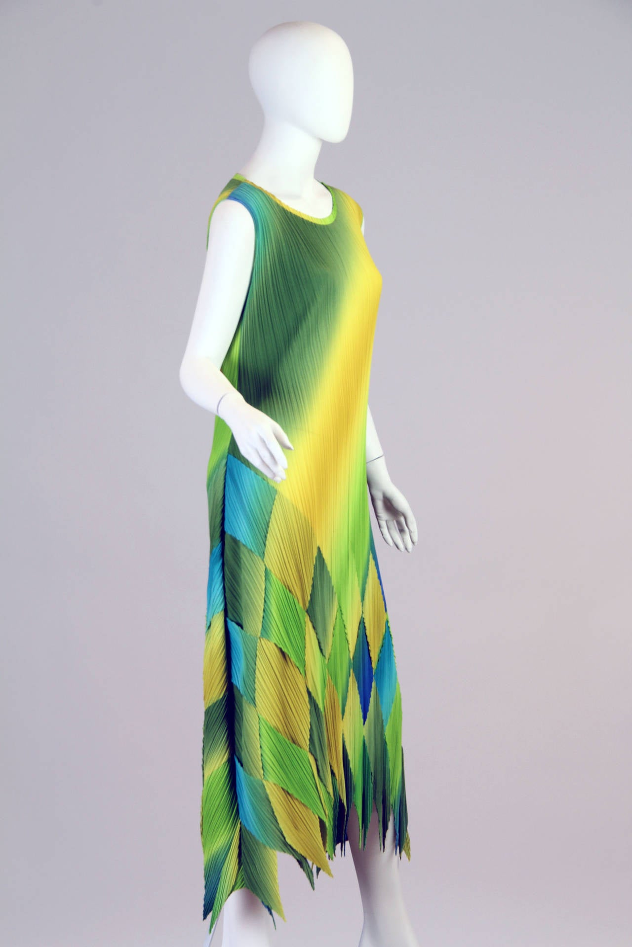 1990s Issey Miyake Multi-Color Dress 2