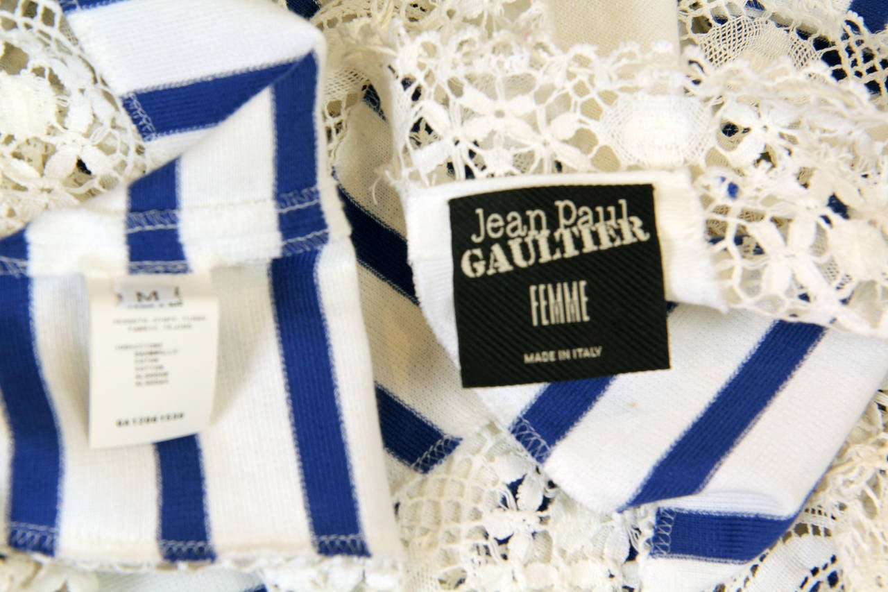 Jean Paul Gaultier Runway Sample Boho Sailor Blouse For Sale 4
