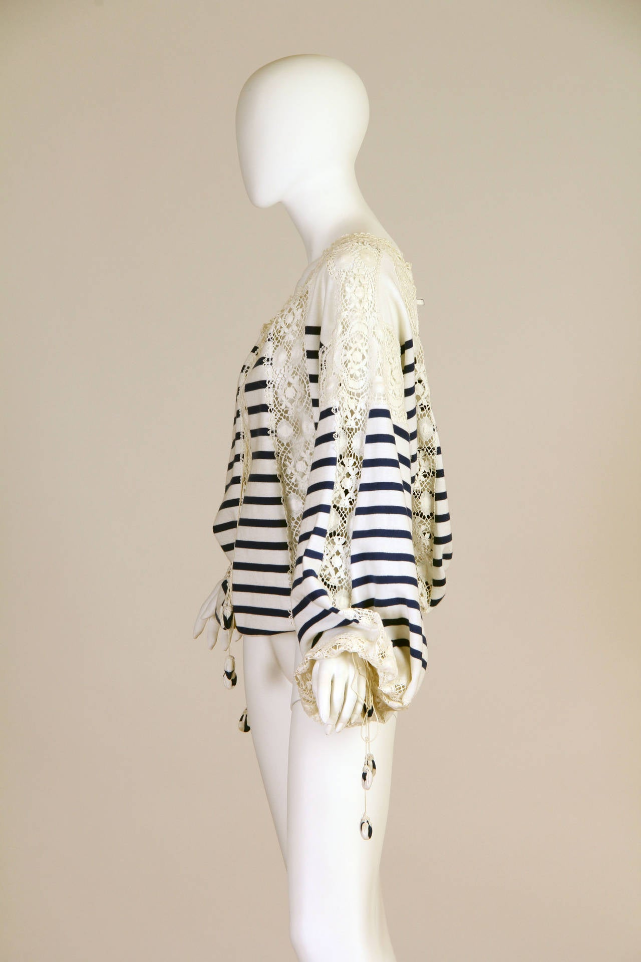 Jean Paul Gaultier Runway Sample Boho Sailor Blouse For Sale 1