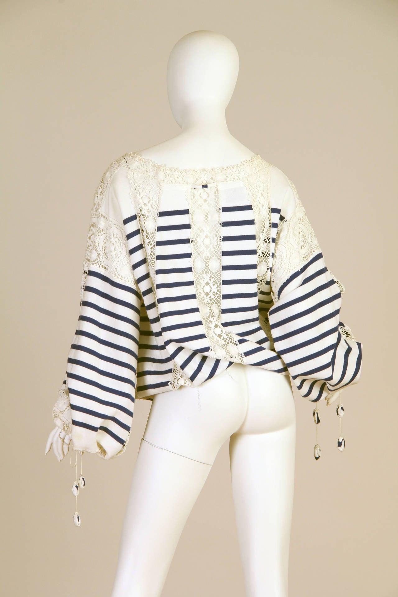 Women's Jean Paul Gaultier Runway Sample Boho Sailor Blouse For Sale
