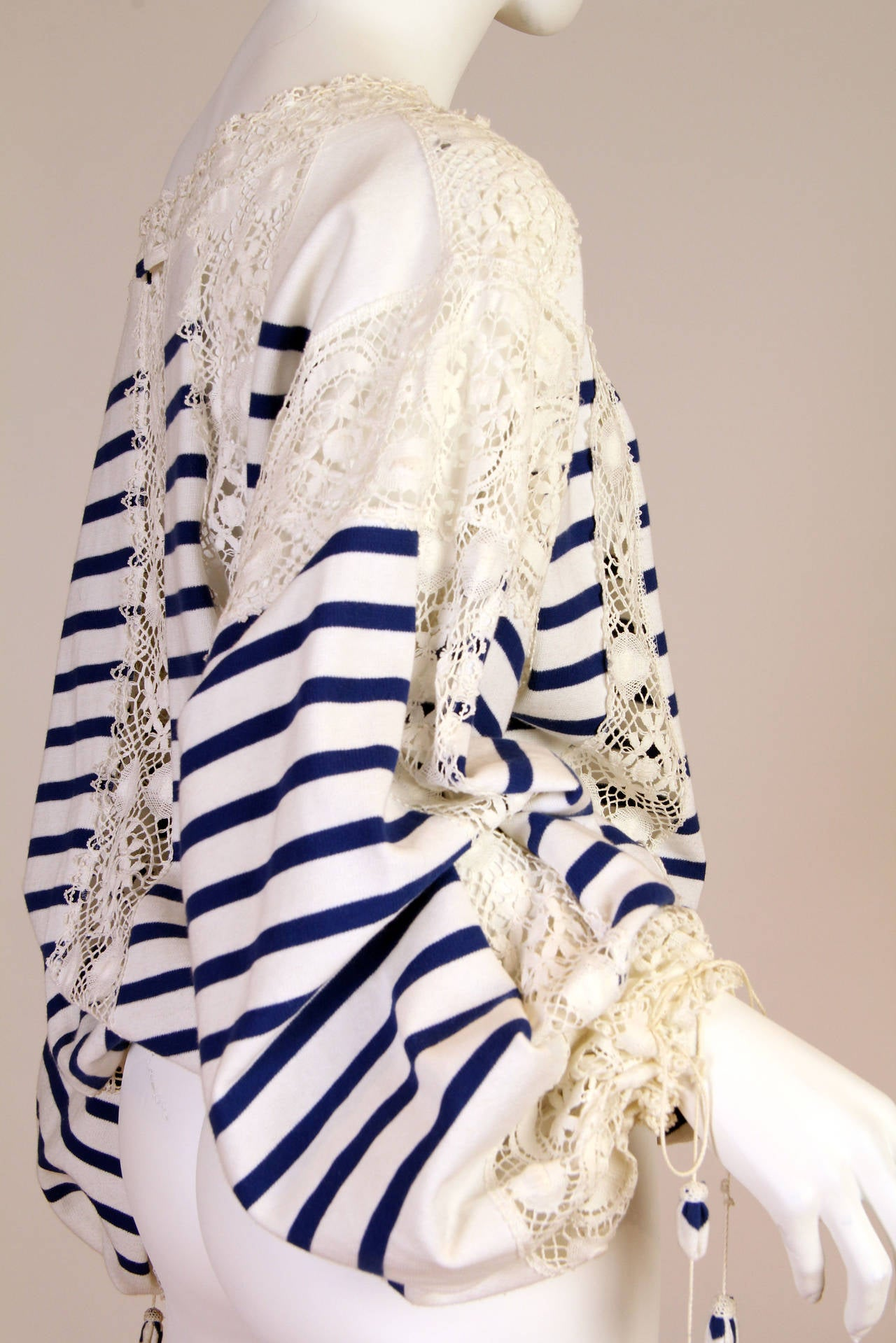 Jean Paul Gaultier Runway Sample Boho Sailor Blouse For Sale 2