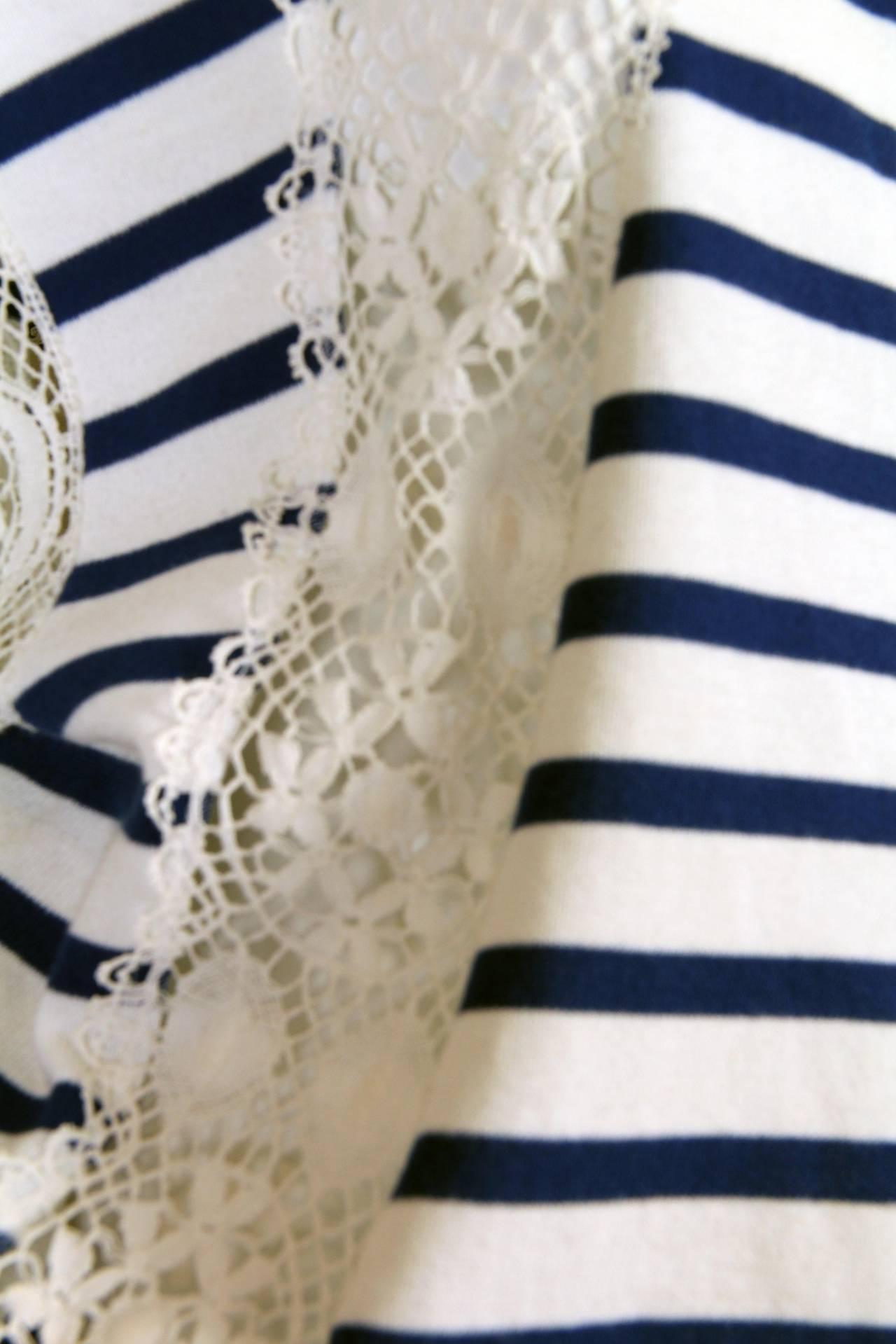 Jean Paul Gaultier Runway Sample Boho Sailor Blouse For Sale 3