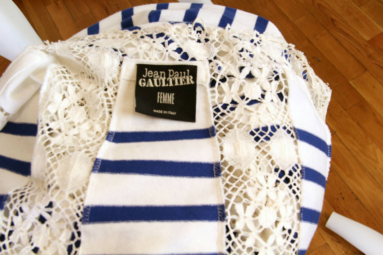 Jean Paul Gaultier Runway Sample Boho Sailor Blouse For Sale 5