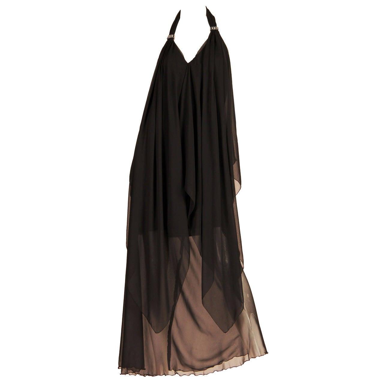 Pierre Cardin Haute Couture Chiffon Evening Dress
