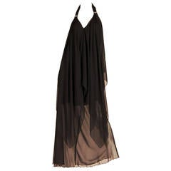 Pierre Cardin Haute Couture Chiffon Evening Dress