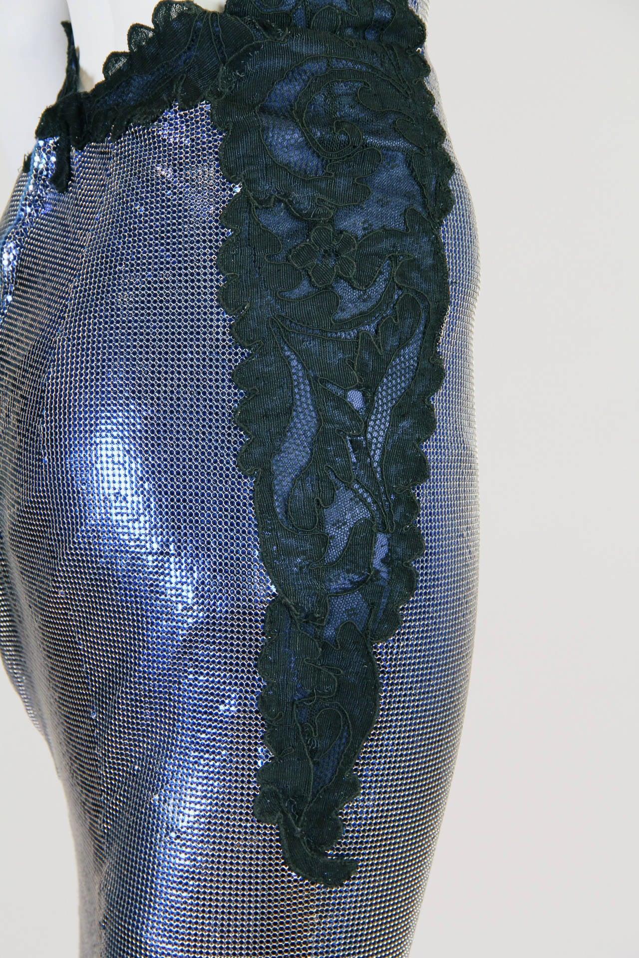 1994/6 Versace Couture Metal Mesh Lingerie Evening Dress 9