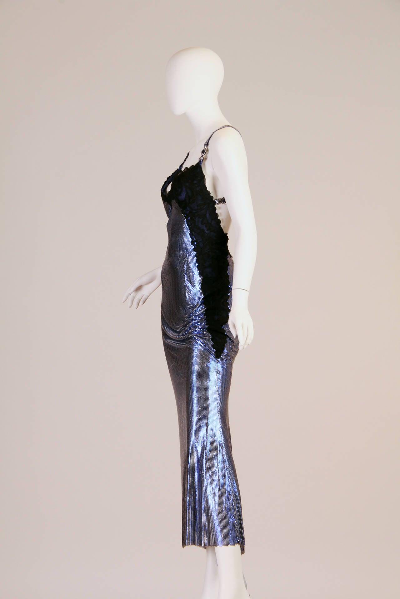 1994/6 Versace Couture Metal Mesh Lingerie Evening Dress 4