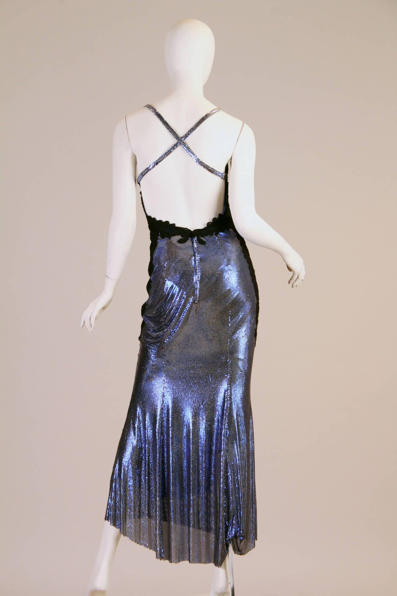 1994/6 Versace Couture Metal Mesh Lingerie Evening Dress 3