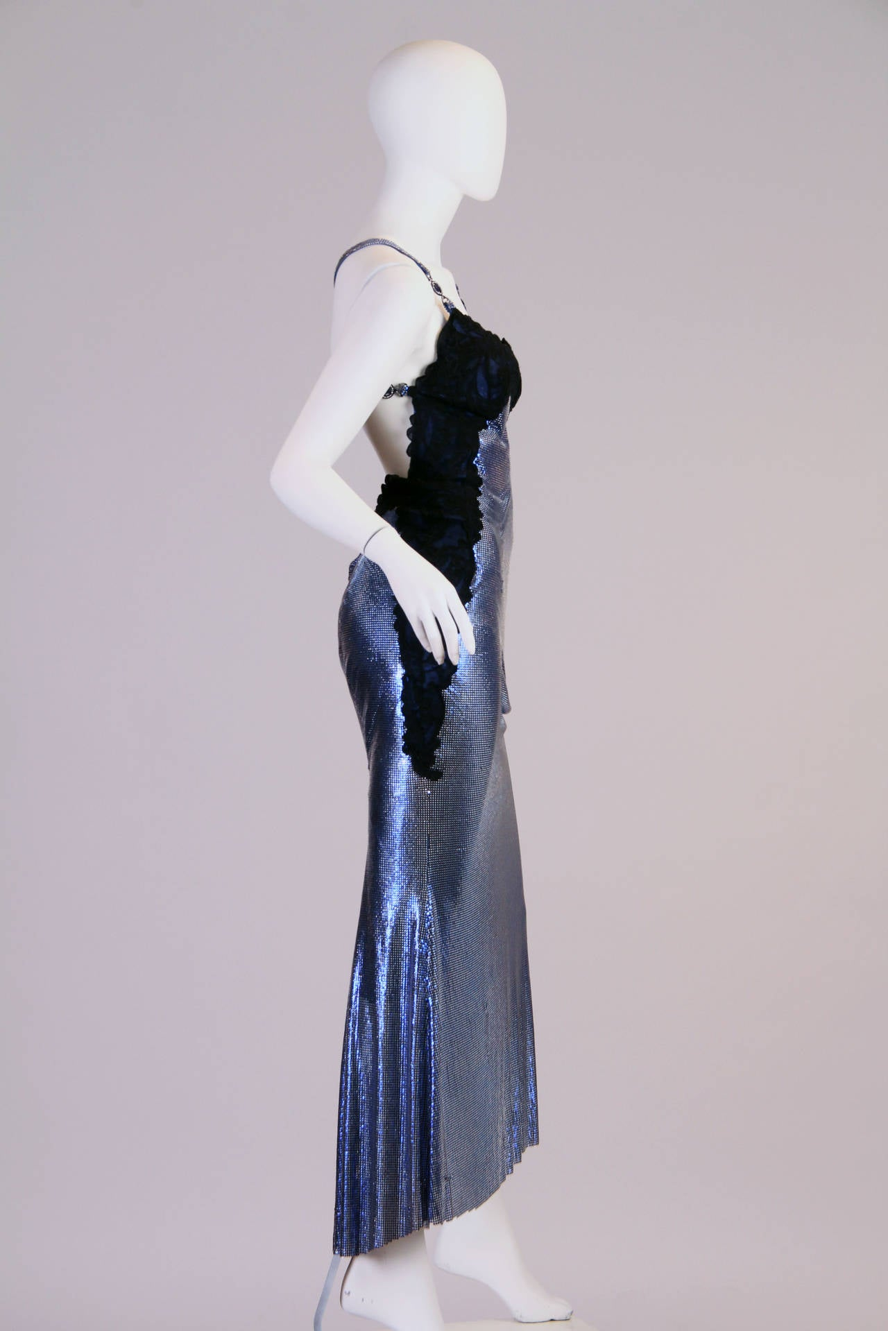 1994/6 Versace Couture Metal Mesh Lingerie Evening Dress 2