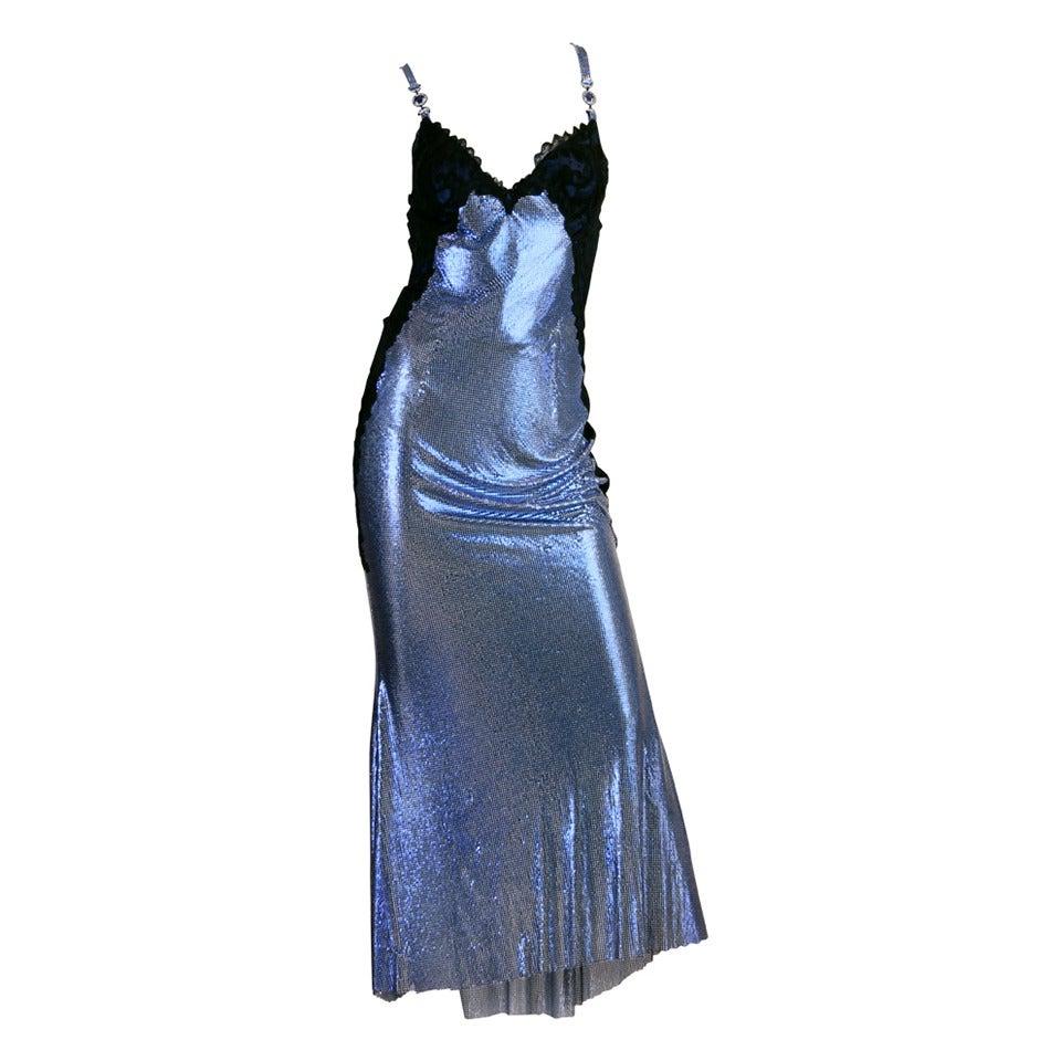 1994/6 Versace Couture Metal Mesh Lingerie Evening Dress 1