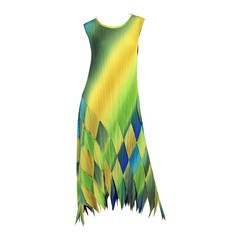 1990s Issey Miyake Multi-Color Dress