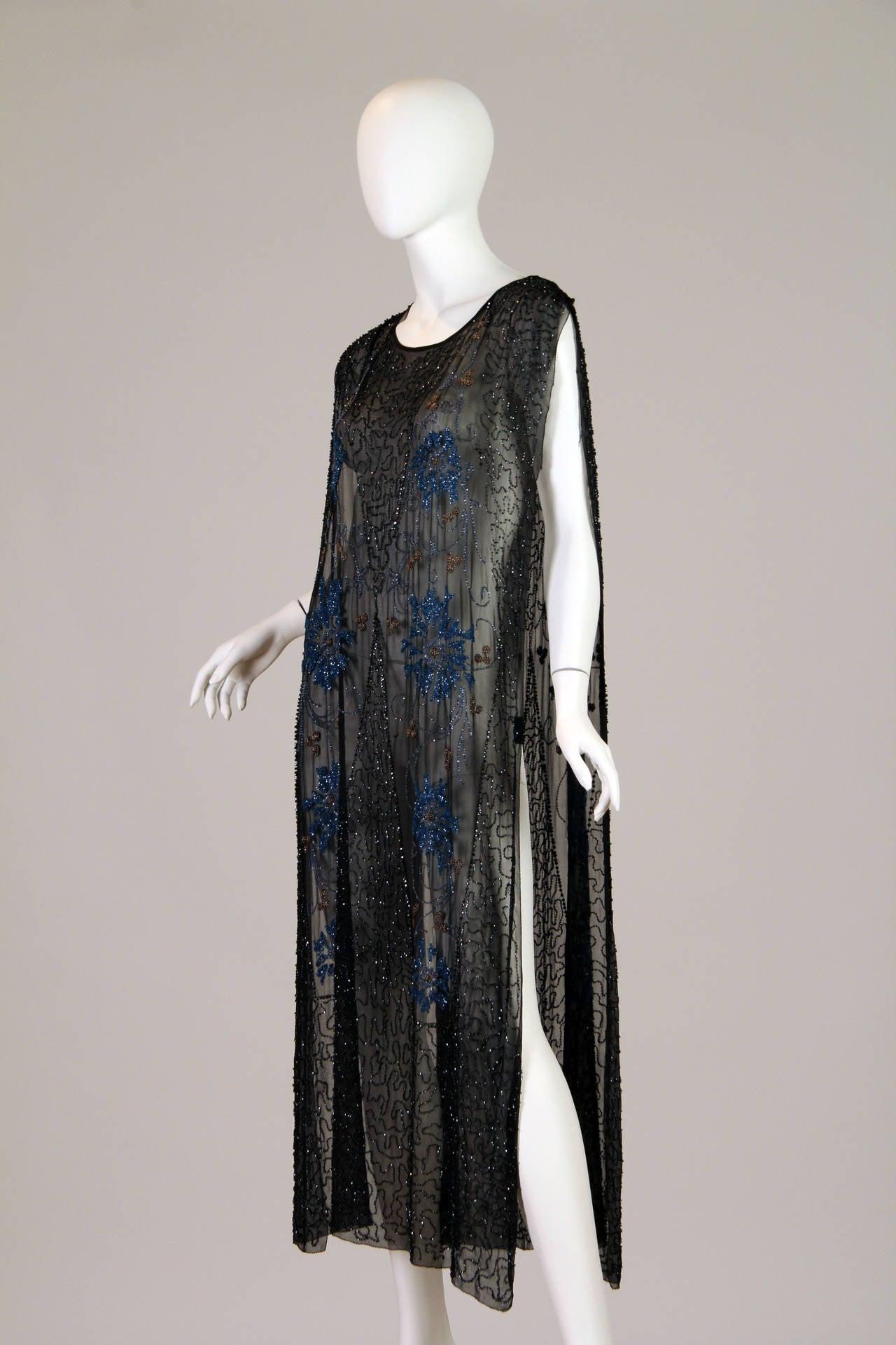 Early art deco era beaded silk tabard at 1stdibs for Art deco era clothing