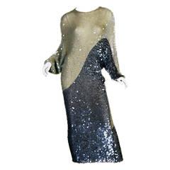 1970/80s Enrico Coveri knit sequin dress