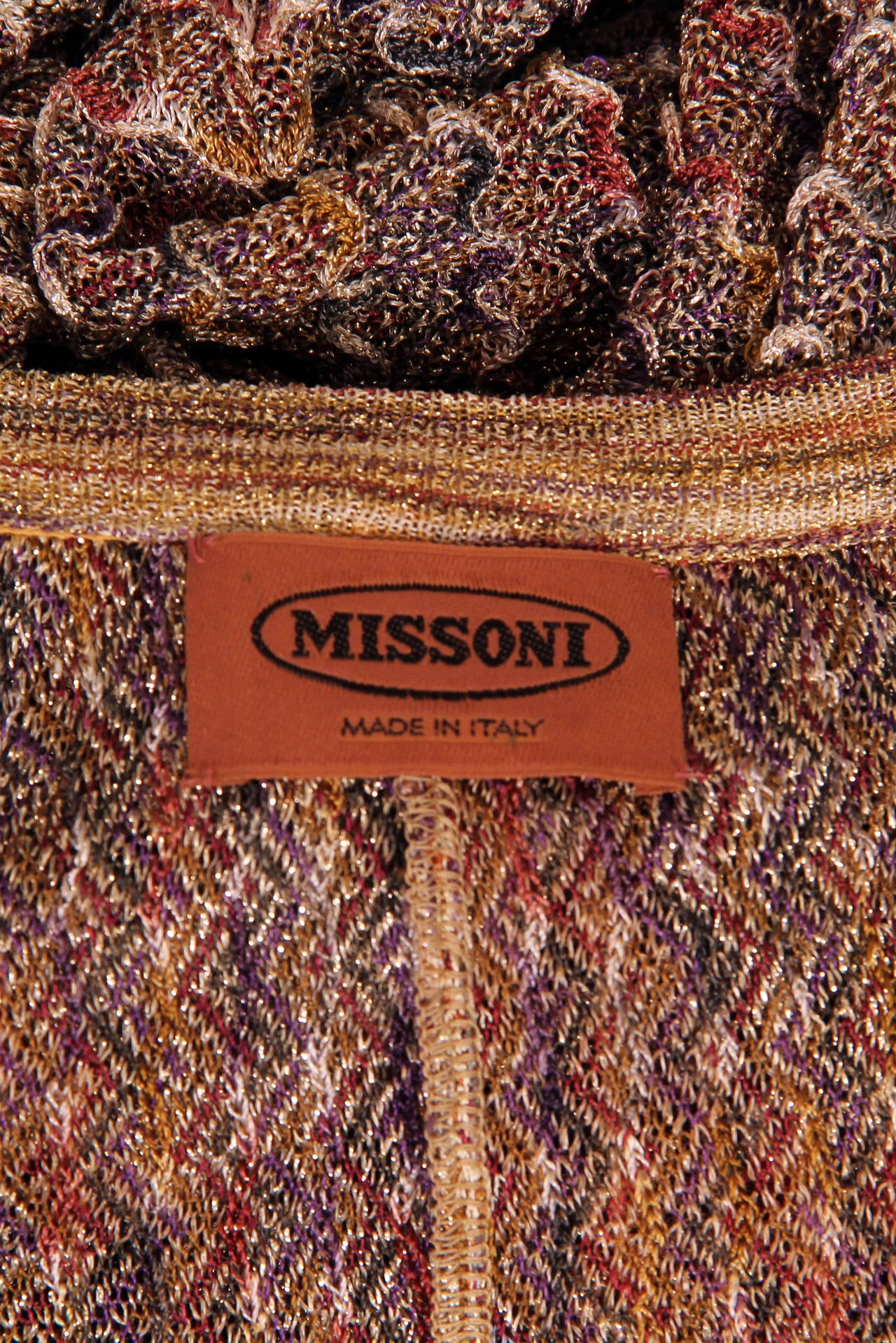 1970s Missoni Dress with Gold For Sale 5