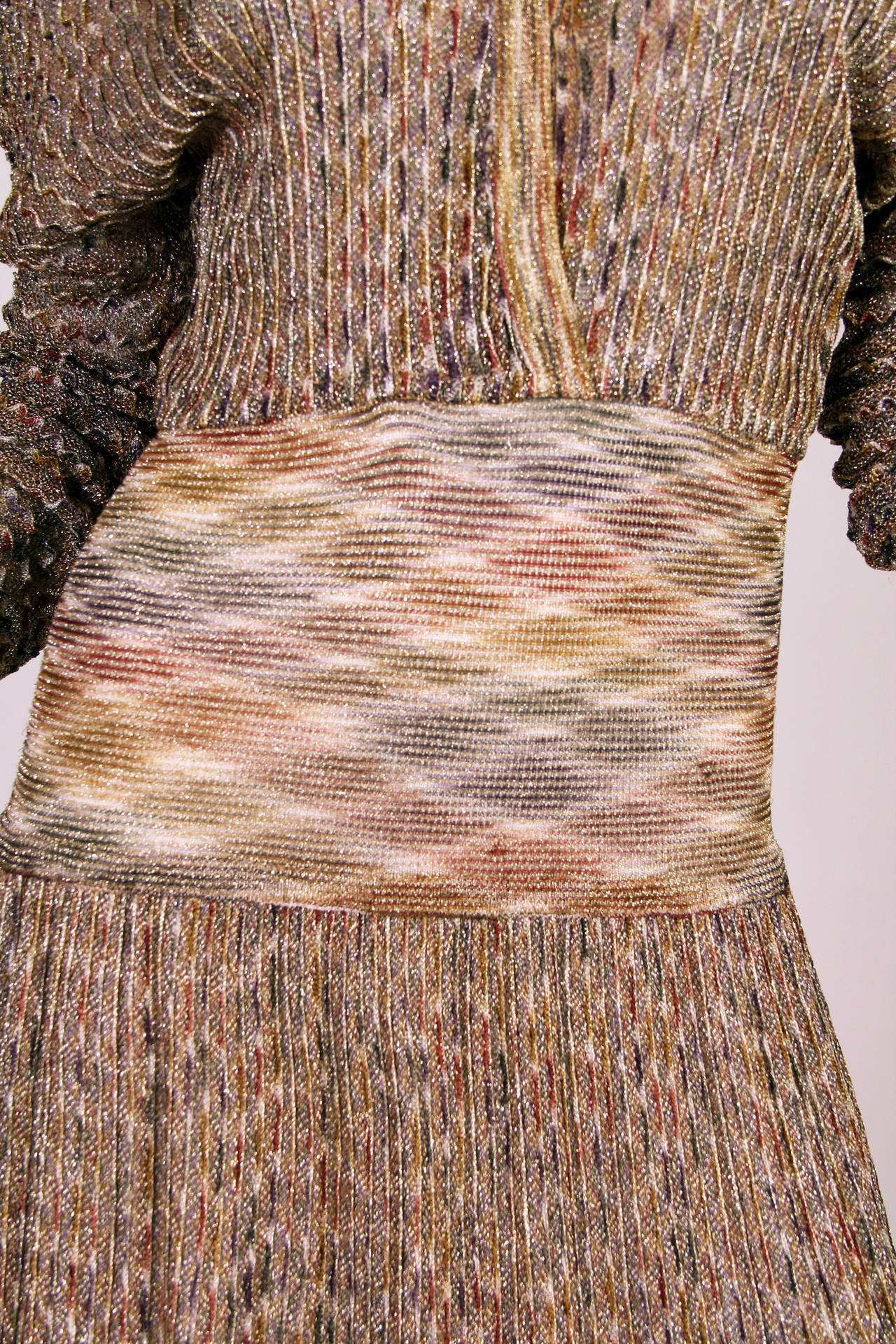 1970s Missoni Dress with Gold For Sale 3
