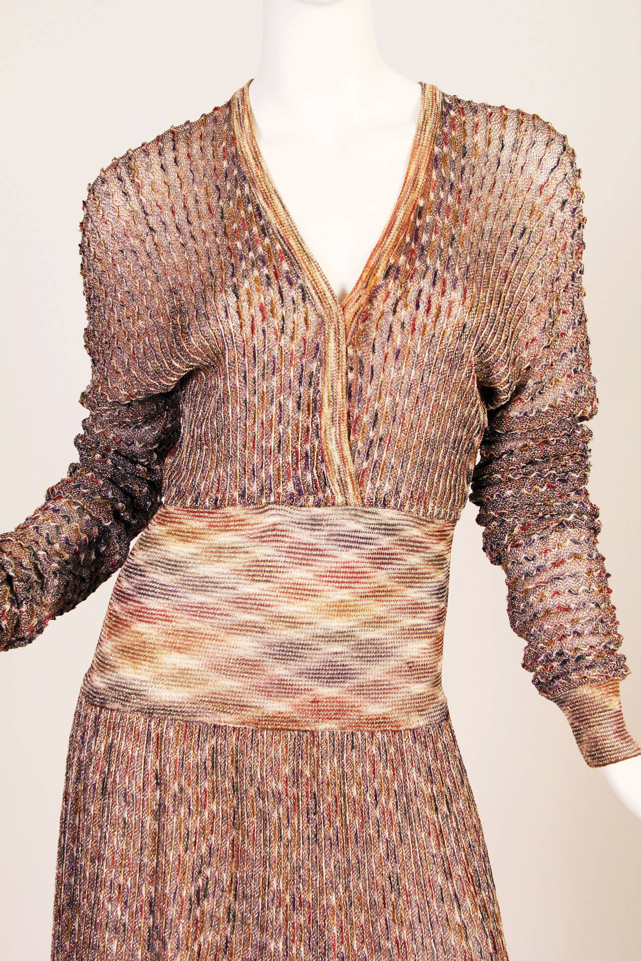 Women's 1970s Missoni Dress with Gold For Sale
