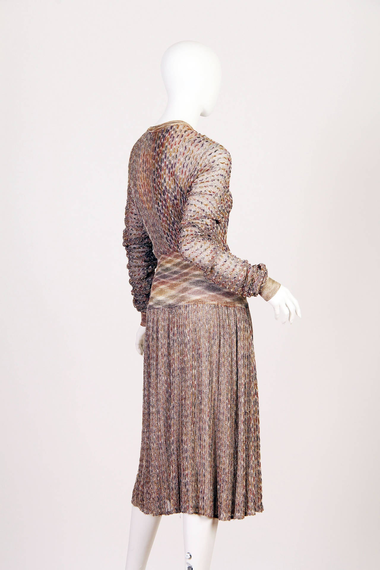 1970s Missoni Dress with Gold In Excellent Condition For Sale In New York, NY