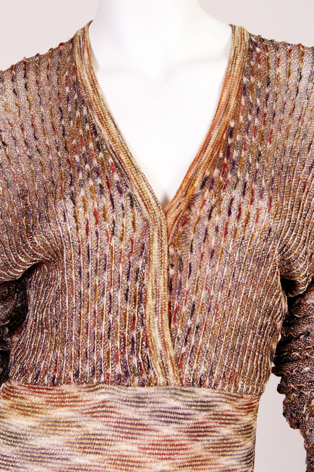 1970s Missoni Dress with Gold For Sale 1