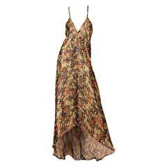 1930s Bias Cut Gold Lamé Dress of Contemporary Construction