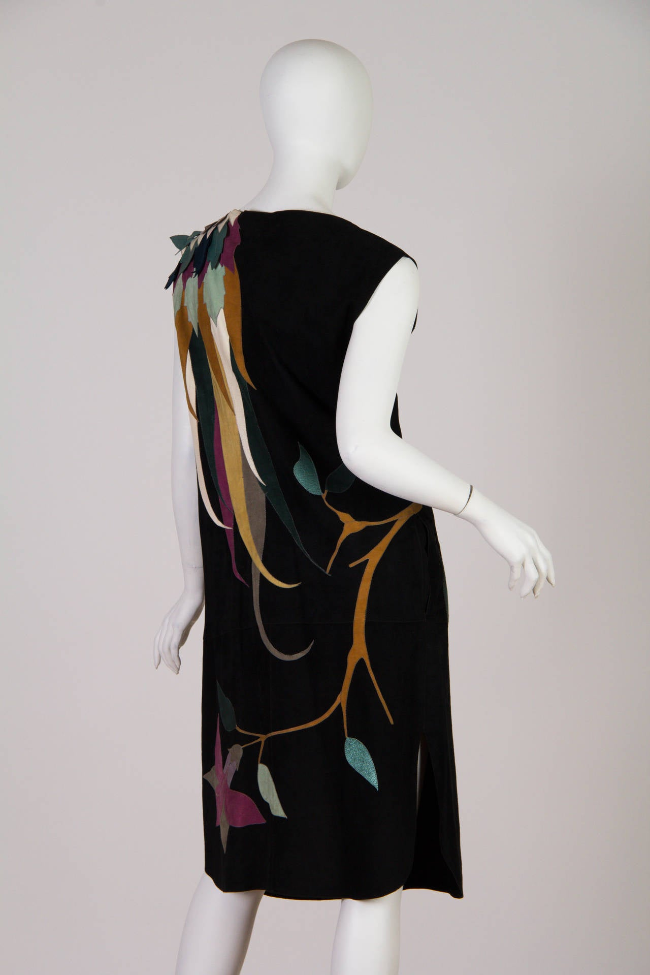 1970s Roberto Cavalli Leather and Suede Dress 3