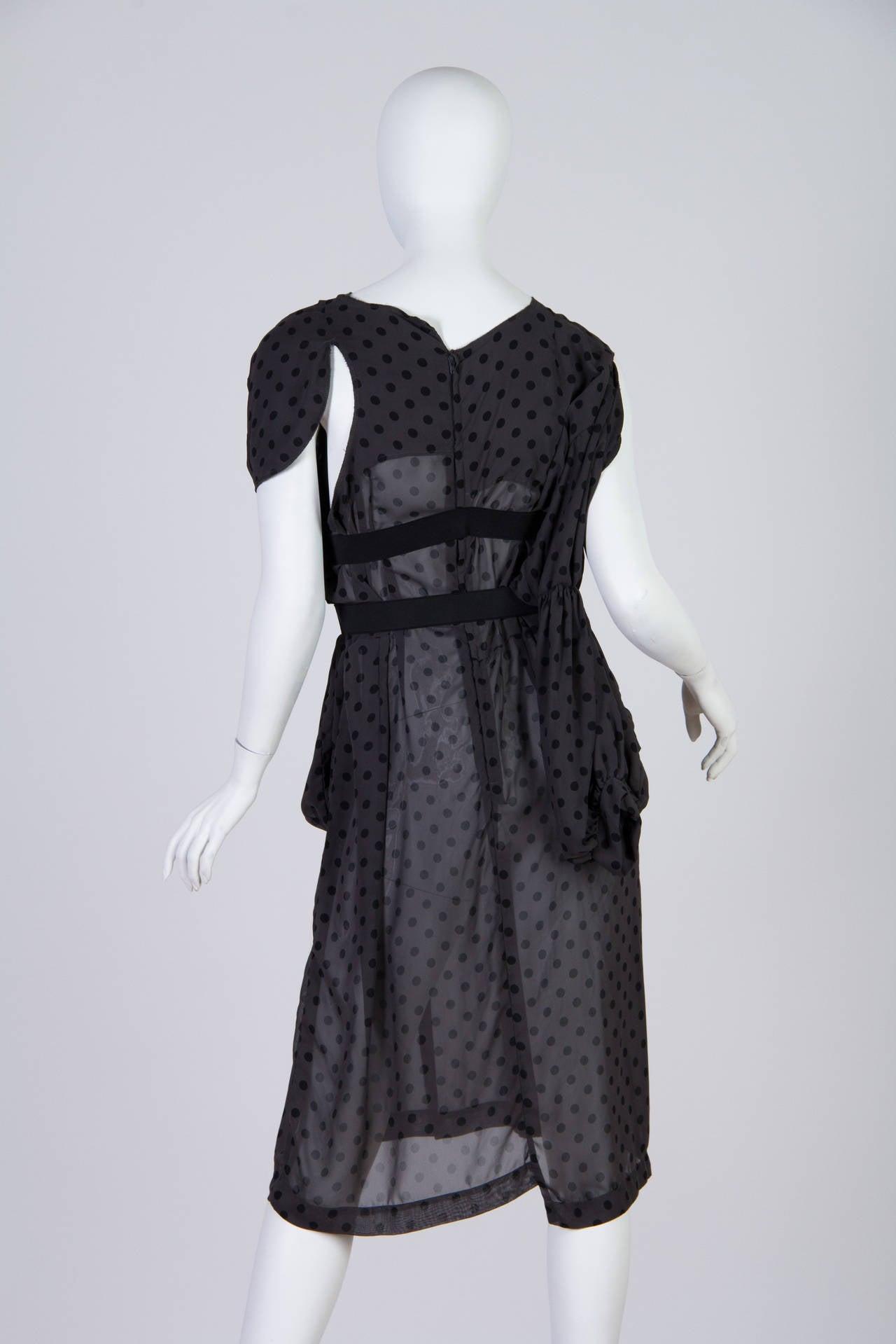 COMME des GARCONS  Deconstructed Chiffon Dress 3