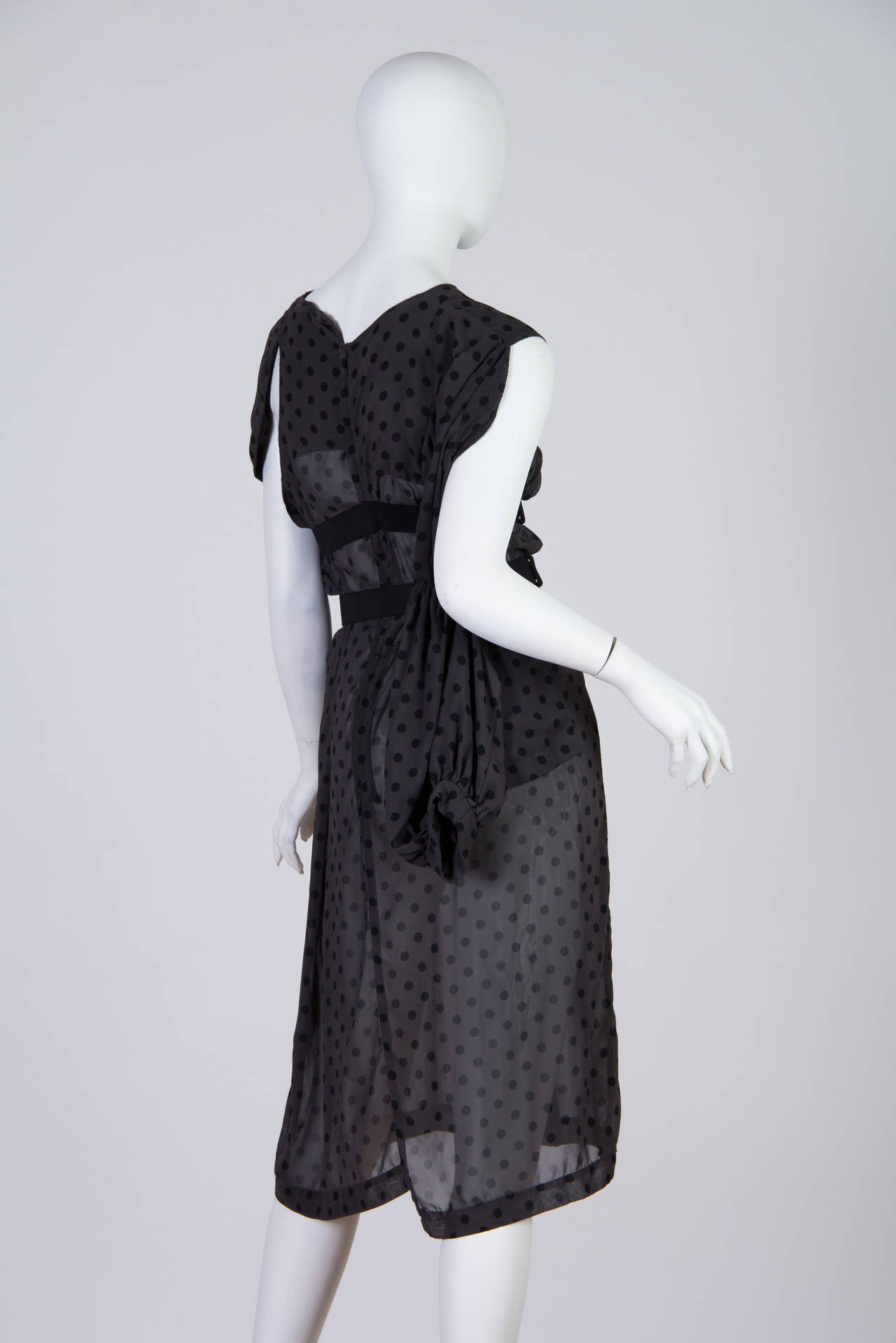 Comme des Garcons Deconstructed Chiffon Dress In Excellent Condition For Sale In New York, NY