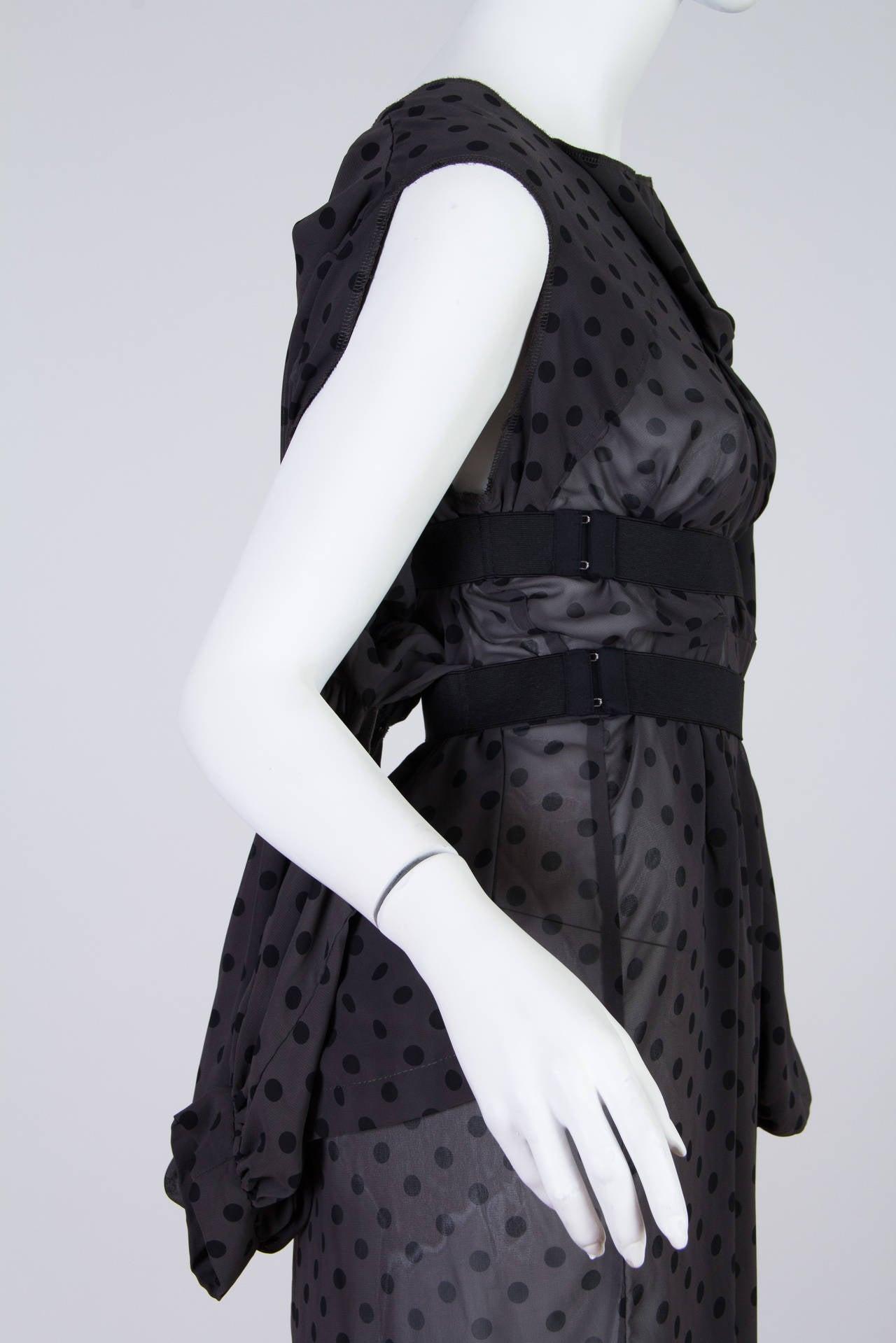 COMME des GARCONS  Deconstructed Chiffon Dress 5