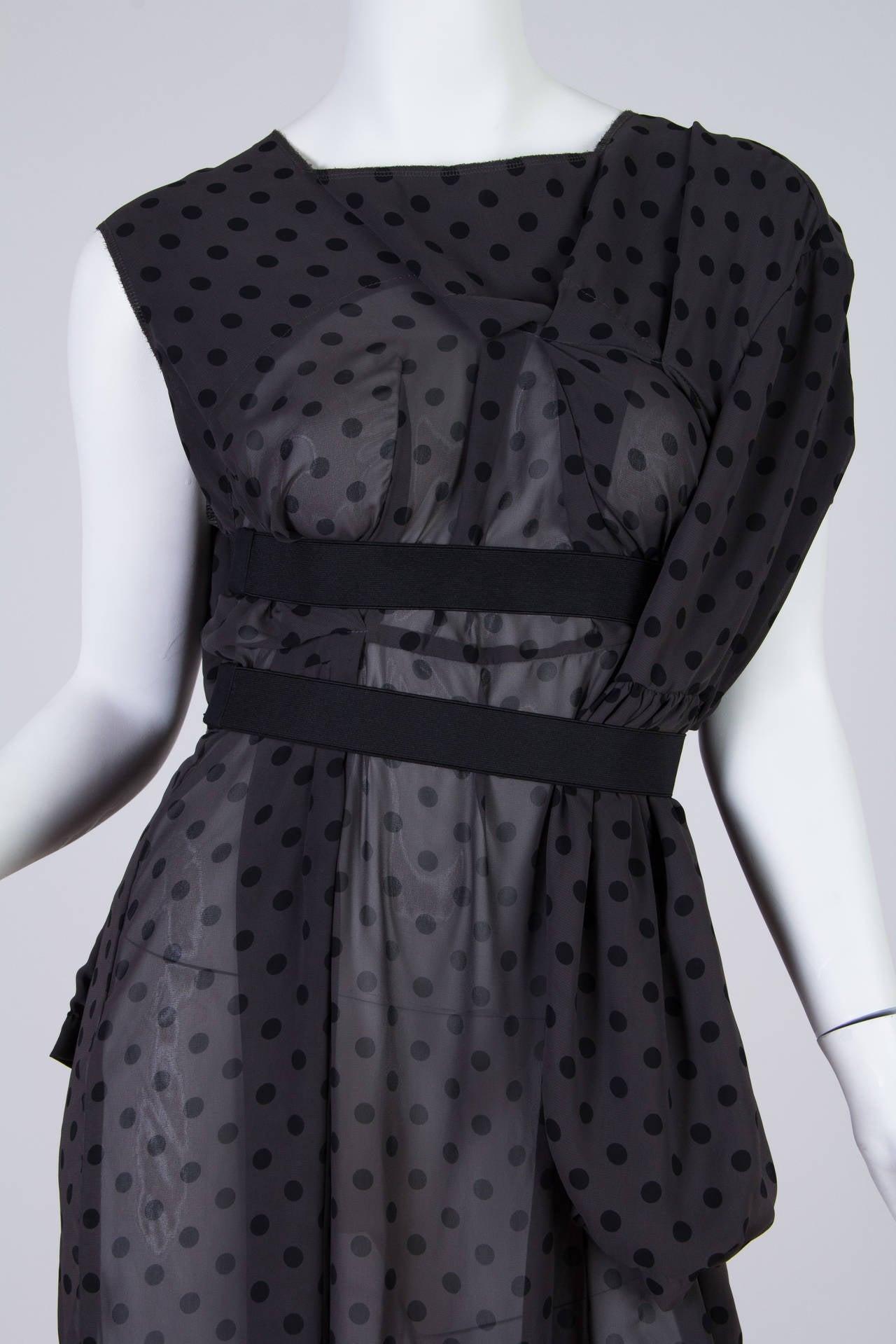 COMME des GARCONS  Deconstructed Chiffon Dress 8