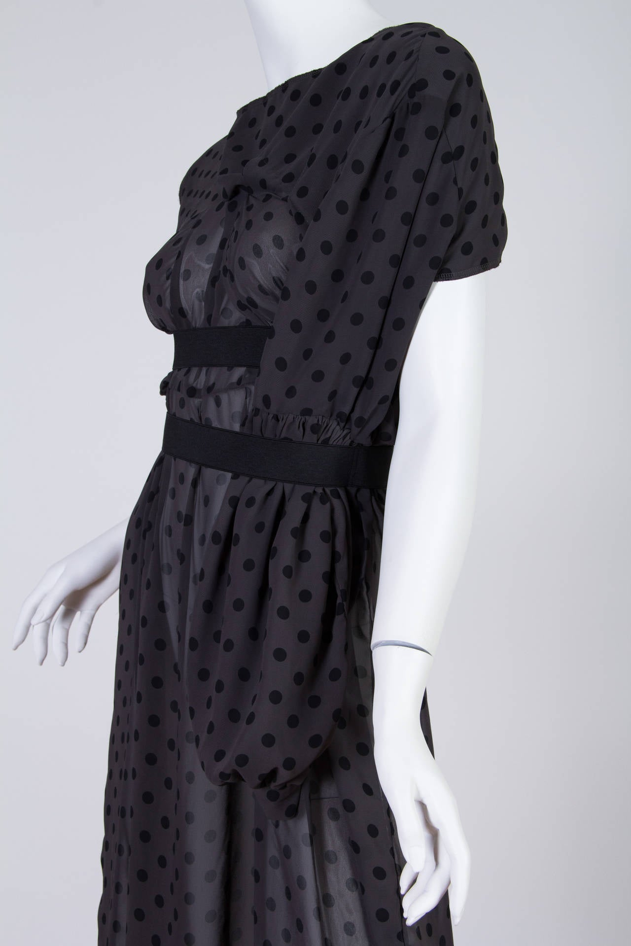 COMME des GARCONS  Deconstructed Chiffon Dress 7