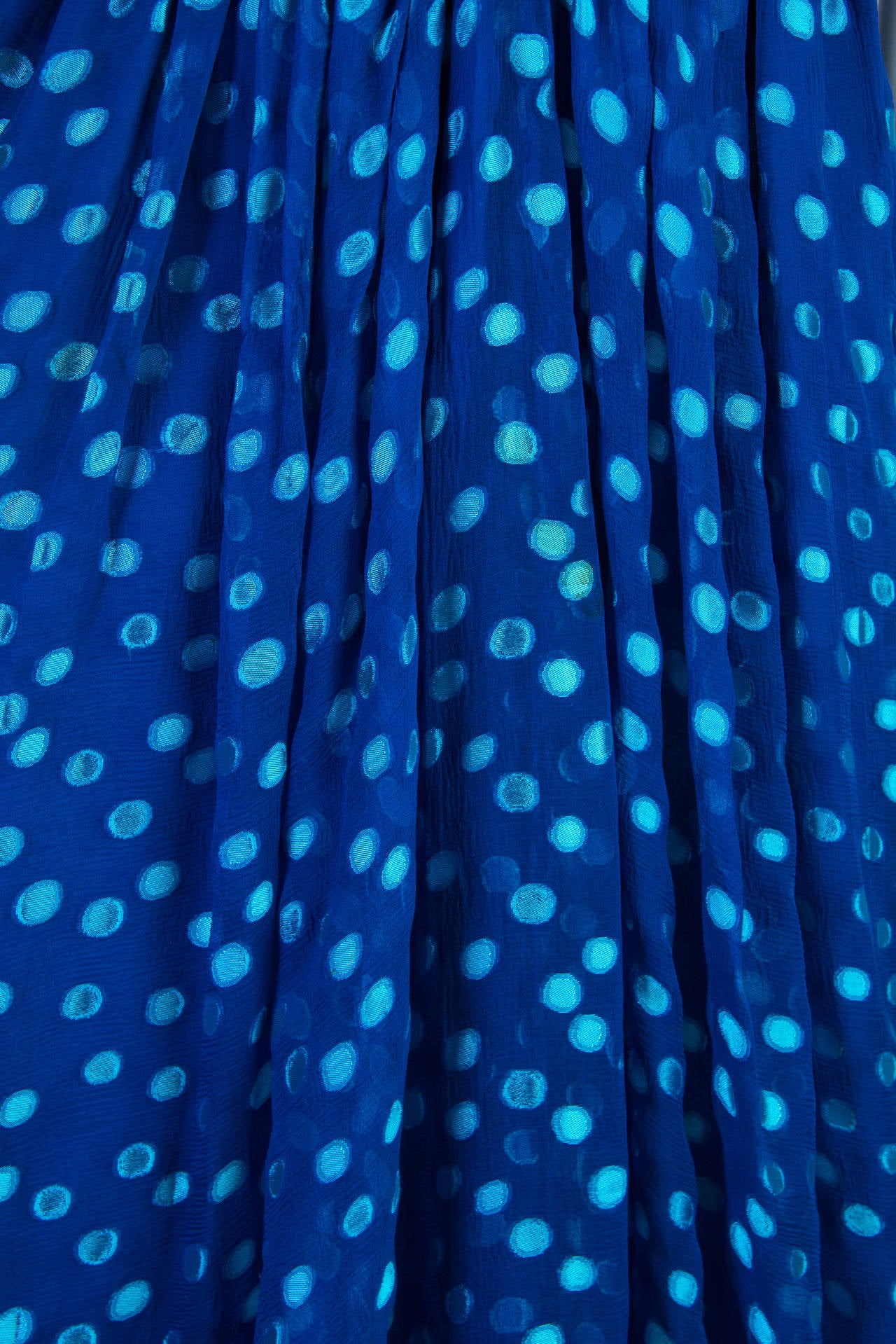 1970s Oscar de la Renta Chiffon Dress For Sale 5