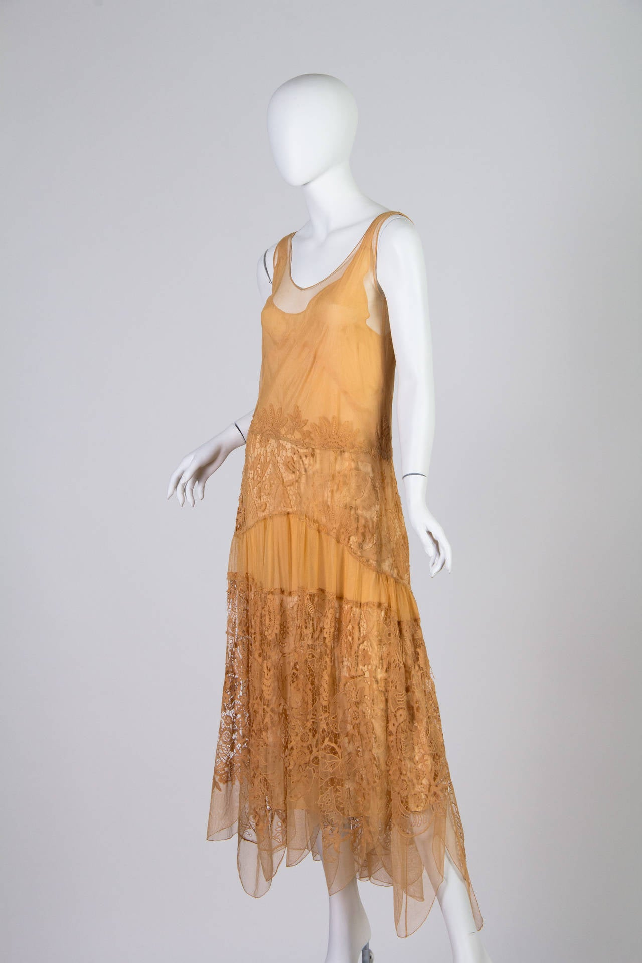 Late 1920s Lace and Net Dress 2